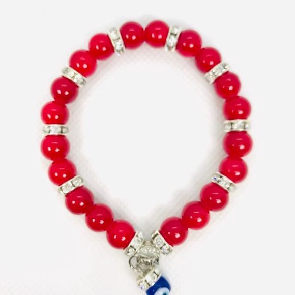 Handmade Jewelry - Glass beads evil eye bracelets